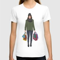 shopping T-shirts featuring christmas shopping by Lenas 9th Art