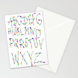 Lettres Arc en Ciel Stationery Cards