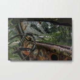 Dashed Board Metal Print
