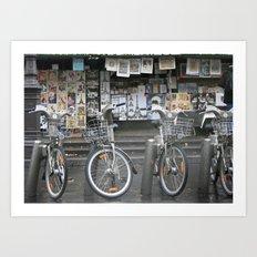 Vélo Paris Art Print