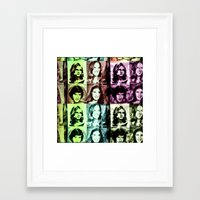 70s Framed Art Prints featuring 70s by Geni