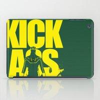 ass iPad Cases featuring KICK ASS by justjeff
