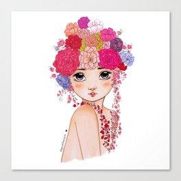 Cute Flower Girl Canvas Print