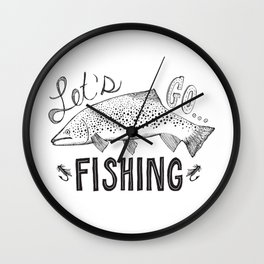 let's go fishing Wall Clock