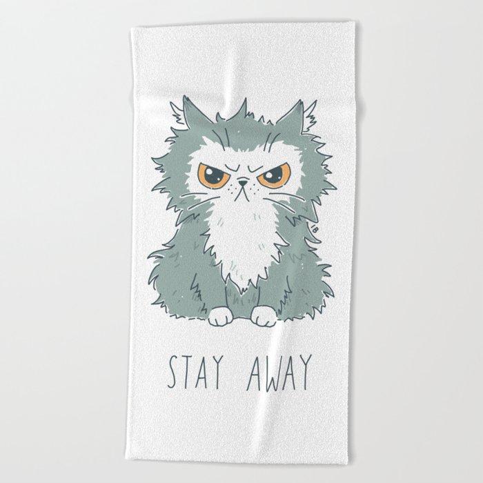 Stay Away Beach Towel