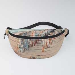 Wharf Remains on the Beach Fanny Pack