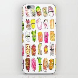 Sushi Watercolor-- Nigiri Sushi iPhone Skin