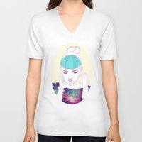 grimes V-neck T-shirts featuring GRIMES by Nuk_