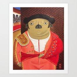 Matador Pug Art Print