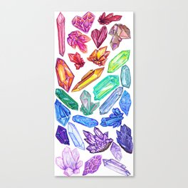 Crystal Rainbow Pride Canvas Print