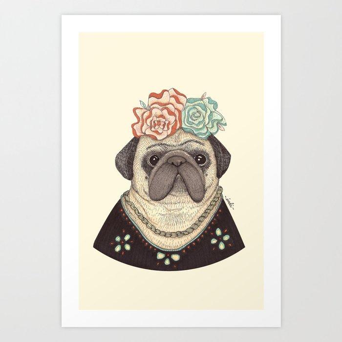 469c66365f5 Frida Pug Kahlo Art Print
