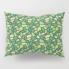 Stained Glass Green Pillow Sham