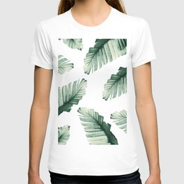 Tropical Banana Leaves Dream #8 #foliage #decor #art #society6 T-shirt