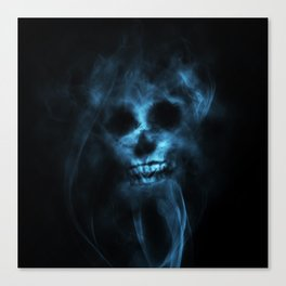 SMOKE SKULL Canvas Print