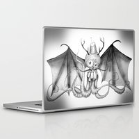 fez Laptop & iPad Skins featuring MonoChro-Monster by Bili Kribbs