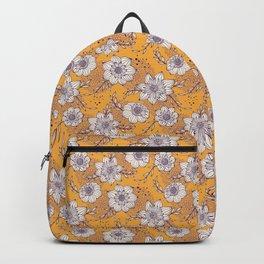 Dahlia Flowers - Orange and Purple Backpack