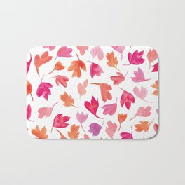 Autumn Leaves   Pinks Bath Mat