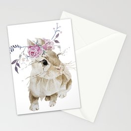 boho bunny Stationery Cards