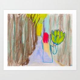 Artichoking Art Print