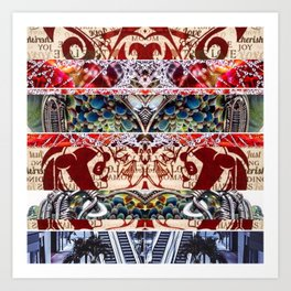 this world creates mirrors Art Print