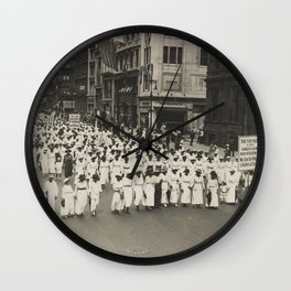 Silent parade in New York City against the East St. Louis riots, 1917 Wall Clock