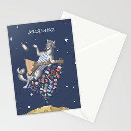 Balalaika Laika Stationery Cards