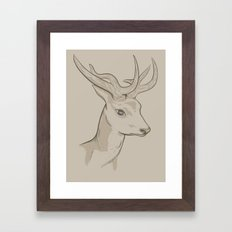 What's the BIG EYE DEER? Framed Art Print