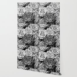 The Roses (Black and White) Wallpaper