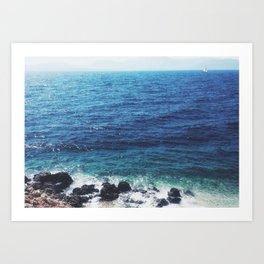 Fading summer Art Print