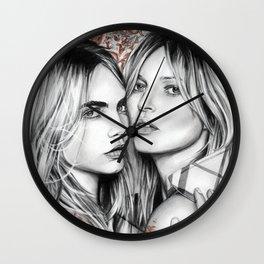 Kate and Cara Wall Clock