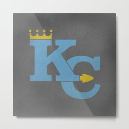 Kansas City Sports Light Blue Metal Print