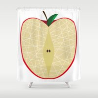 apple Shower Curtains featuring Apple by Dpat Designs