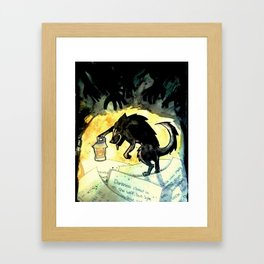 Storybook Wolf Framed Art Print