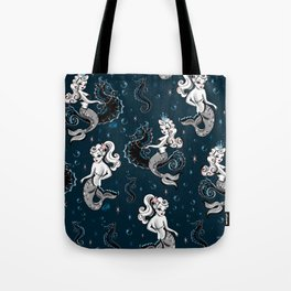 Pearla the Mermaid Riding on a Seahorse Tote Bag
