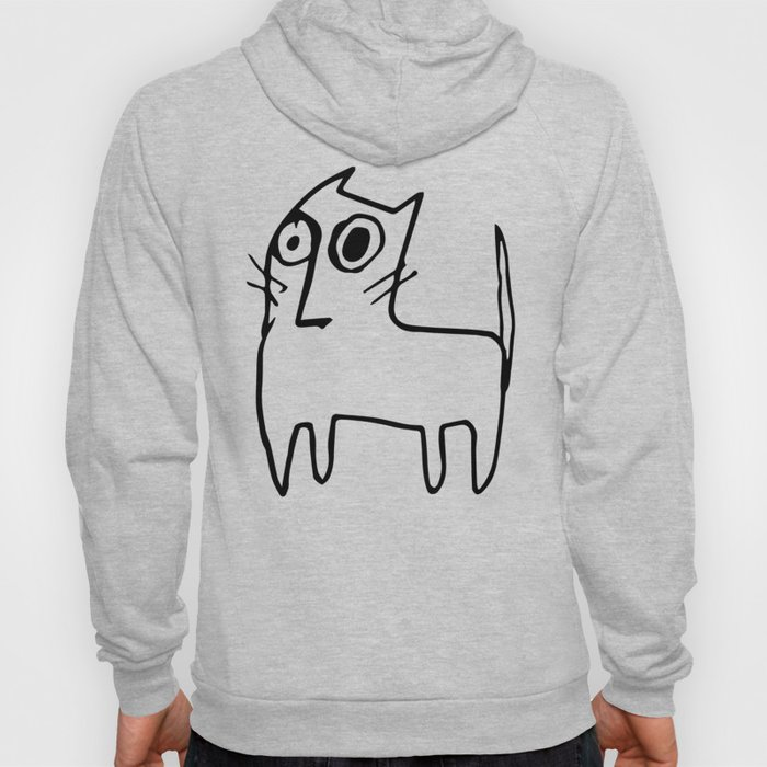 A mangy, miffed and slightly damaged cat Hoody
