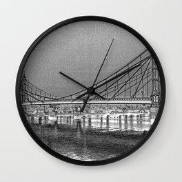 Albert Bridge London Digital Art Wall Clock