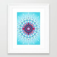 diamond Framed Art Prints featuring Diamond by Helen Kaur