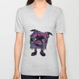 Lugga The Friendly Hairball Monster For Ghouls Unisex V-Neck