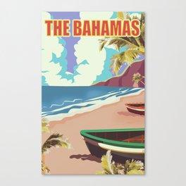 The Bahamas travel poster Canvas Print