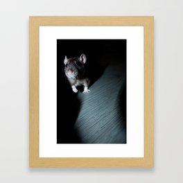 Oeps... the can see me! Framed Art Print