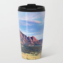 Boulder Colorado Flatirons Travel Mug