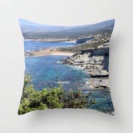 Akamas Peninsula Throw Pillow