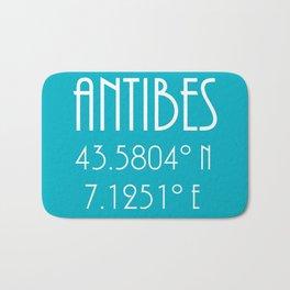 Antibes Latitude Longitude Bath Mat