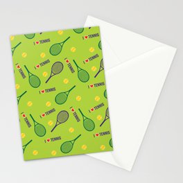 Love tennis - fresh green Stationery Cards