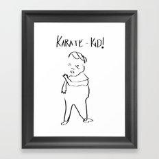 Karate Comic Framed Art Print