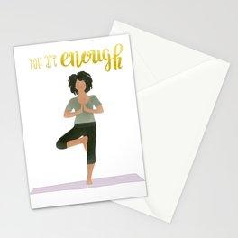 You Are Enough | Yoga & Meditation Illustration | Tree Pose Stationery Cards