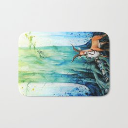 """At the tree's feet"" Bath Mat"