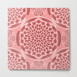 Coral pink geometric Metal Print