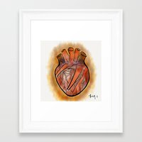anatomical heart Framed Art Prints featuring Anatomical Heart by transFIGure