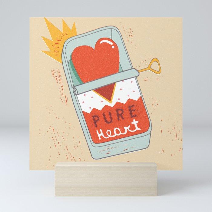Canned Heart Mini Art Print